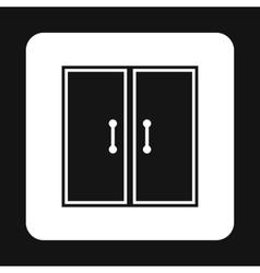 Double door icon simple style vector