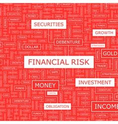 FINANCIAL RISK vector image