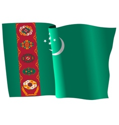 flag of Turkmenistan vector image vector image