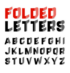 folded alphabet letters vector image vector image