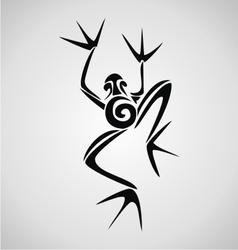 Frog Tribal vector image vector image