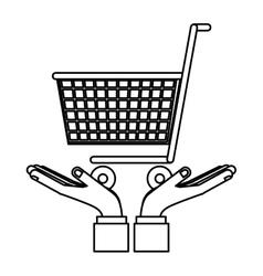 Go shopping concept vector
