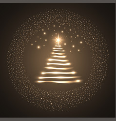 illuminated christmas tree vector image