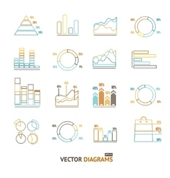 Infographic set element outline vector