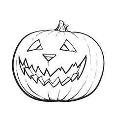 jack o lantern pumpkin with scary face vector image vector image