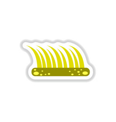 labels with shadow flat icon and bush vector image vector image
