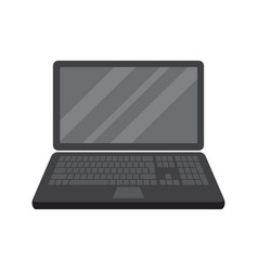 Laptop computer notebook in flat style isolated vector