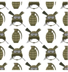 Military modern camouflage helmet army protection vector