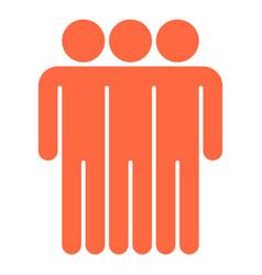 Three man sign people icon vector