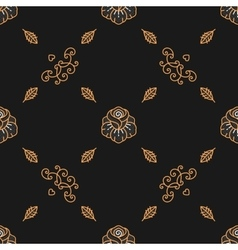 Trendy seamless pattern minimal floral ornament vector image