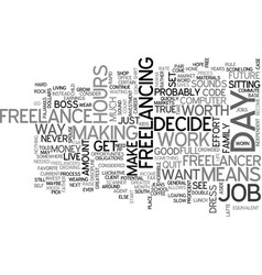 Why freelance text word cloud concept vector