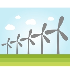 Wind power plants vector image vector image