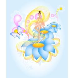 Fairytale ballet vector