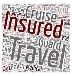 Compare cruise insurance you often get what you vector