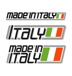 made in italy vector image