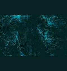 Abstract big data visualization cyan vector