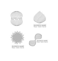 Abstract grid shapes logo icon symbols set vector