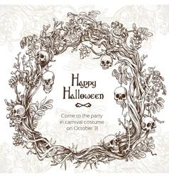 Halloween decorative wreath - frame for an vector image