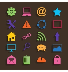 Web icons set in flat design vector