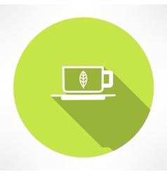 Green tea symbols vector