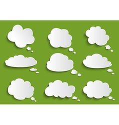 Cloud speech bubble collection vector