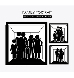 Family portrait desing vector