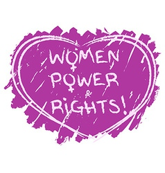 Women power symbol vector