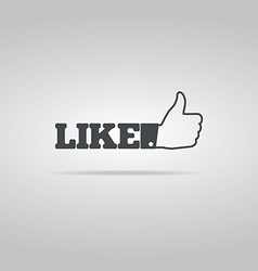 Social like icon vector