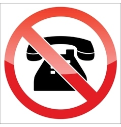Phone forbidden icon vector