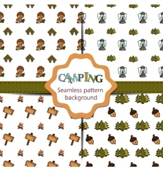 Camping - doodles collection big doodle set - vector