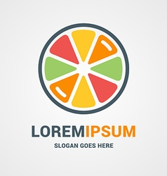 Logo template fresh orange lemon lime grapefruit vector