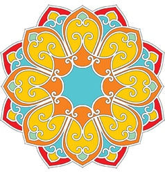 Oriental flower pattern vector