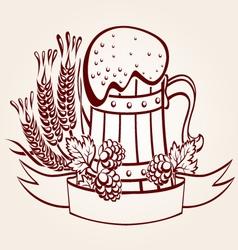 ornate beer mug vector image