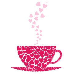 Cup love vector image