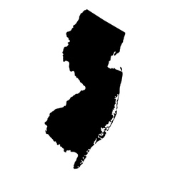 map of the US state of New Jersey vector image