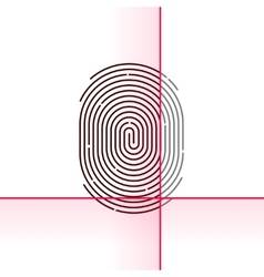 Fingerprint scan isolated on vector