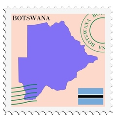 Mail to-from botswana vector
