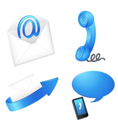 Digital telecommunication icons vector