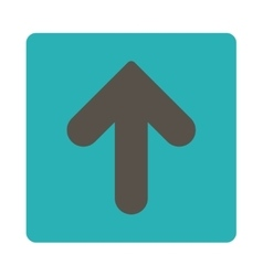 Arrow up flat grey and cyan colors rounded button vector