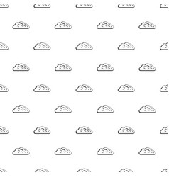Autumn cloud pattern vector