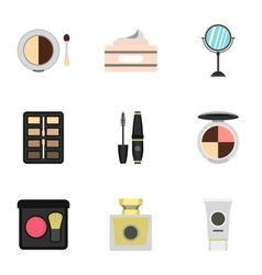Beauty icons set flat style vector