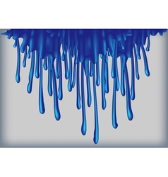 Blue paint runs vector image