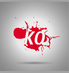 combo fatality ko icon vector image
