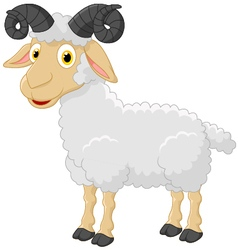 Cute cartoon sheep character vector image vector image