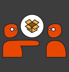 Dropbox color icon realistic icon or logo vector