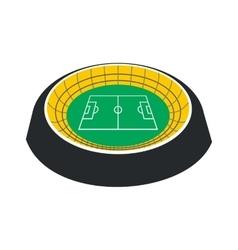 Football round stadium icon vector