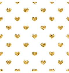 Golden hearts seamless pattern 2 white vector image vector image