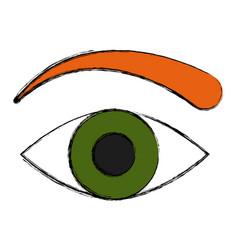 Human eye symbol vector