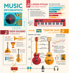 Ilustration of different music insruments template vector