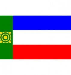 khakassia flag vector image vector image